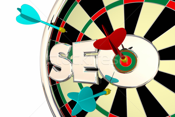 SEO Search Engine Optimization Dart Board 3d Illustration Stock photo © iqoncept