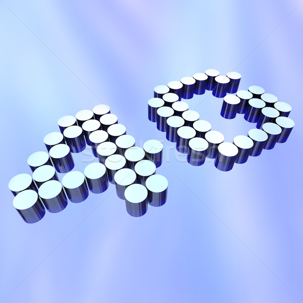 4G - Letters on Abstract Background Stock photo © iqoncept