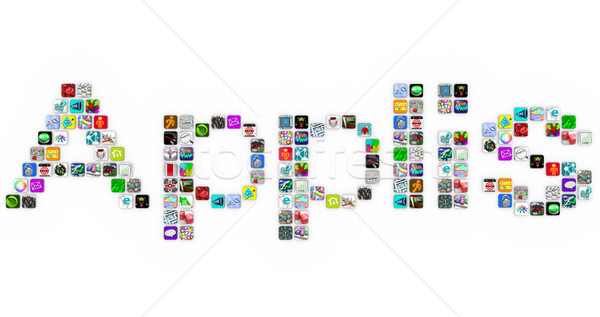 Applis - Application Icons Word in App Tiles Stock photo © iqoncept