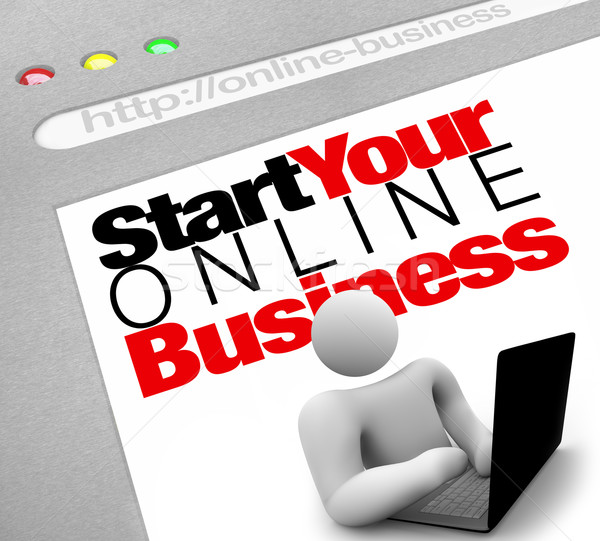 Website start online business instructies plaats Stockfoto © iqoncept
