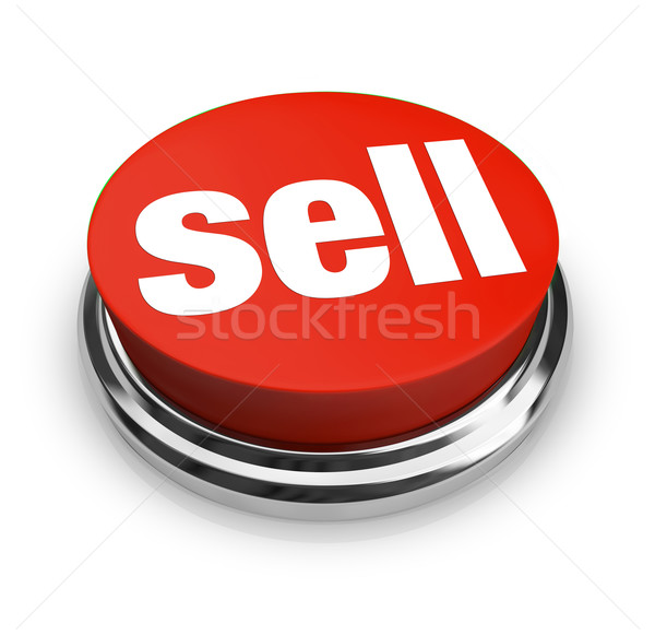 Sell Word on Red Round Button Seller Offers Merchandise for Sale Stock photo © iqoncept