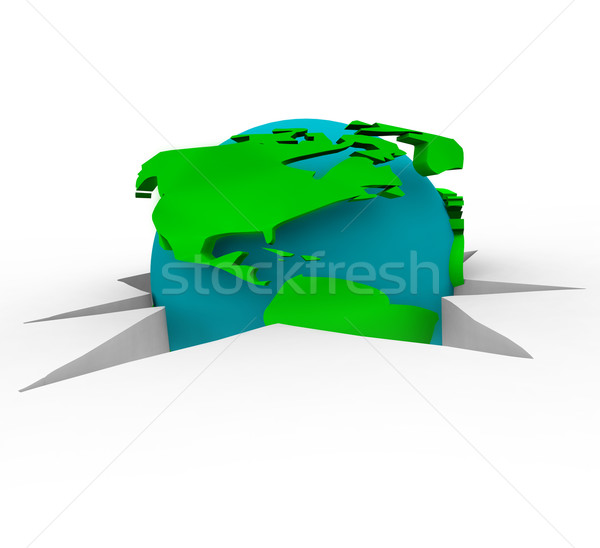 Earth Falling in Hole Stock photo © iqoncept