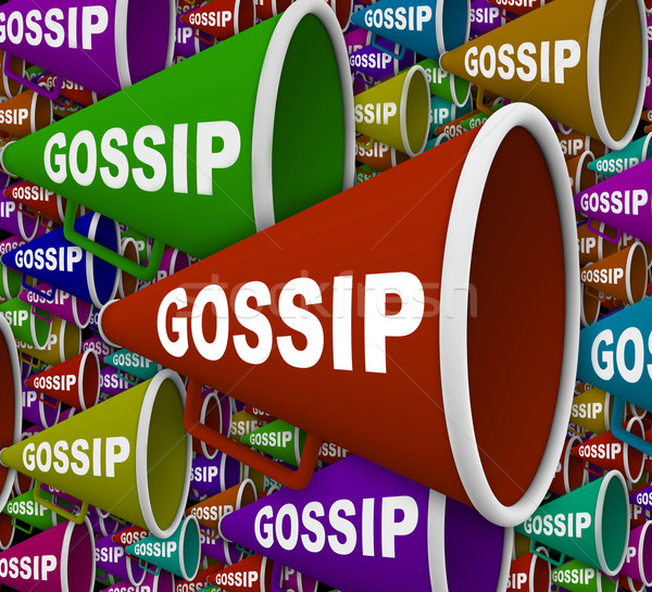 Gossip - Word on Many Bullhorns Stock photo © iqoncept