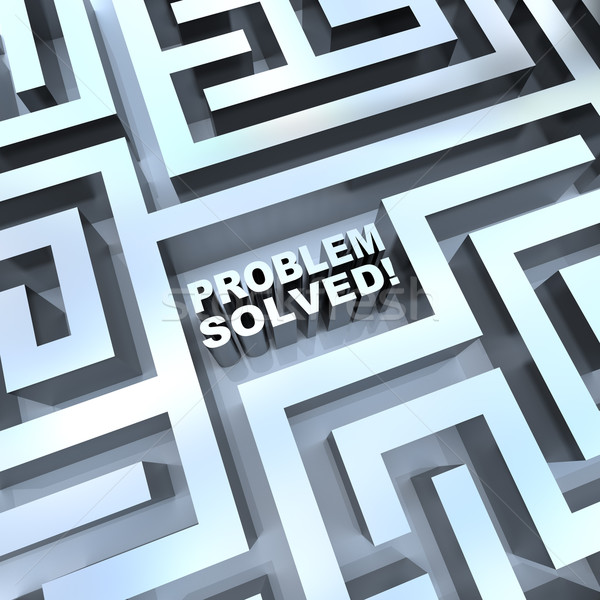 Maze - Problem Solved Stock photo © iqoncept
