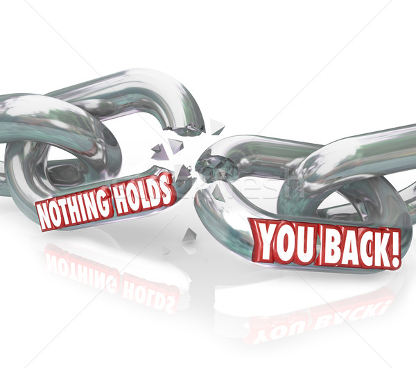 Freedom Nothing Holds You Back Chain Links Breaking Free  Stock photo © iqoncept
