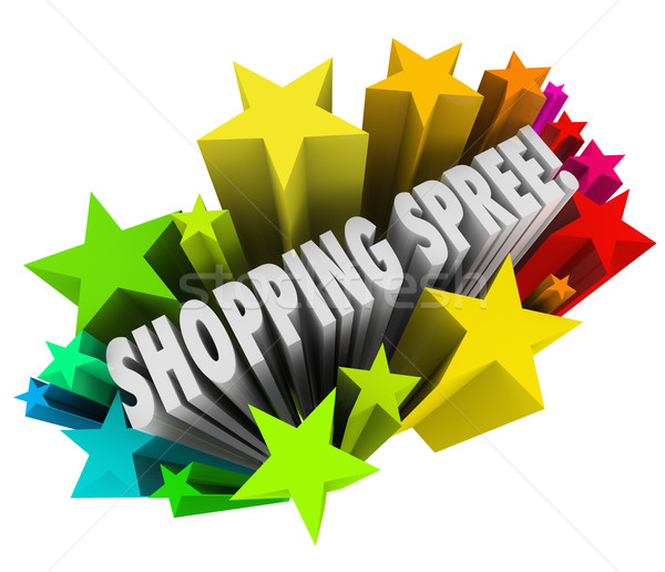 Shopping Spree Words Stars Winner Sweepstakes Prize Stock photo © iqoncept
