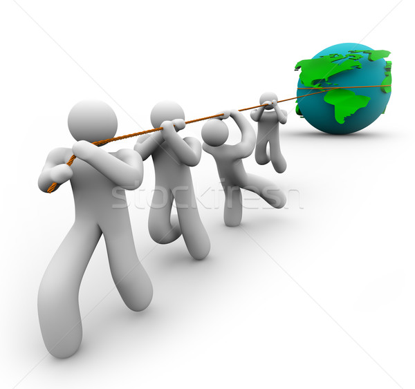 Team Pulling the World Stock photo © iqoncept