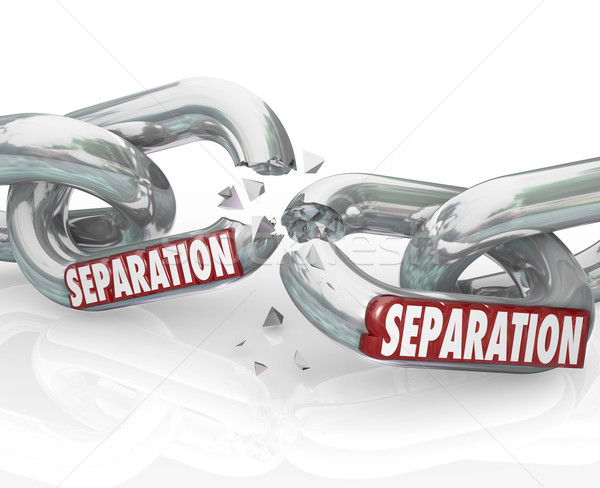 Separation Chain Links Break Apart Dividing Pulling Away Stock photo © iqoncept