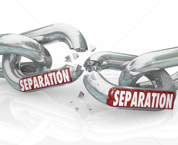 Scheiding keten links pauze Stockfoto © iqoncept