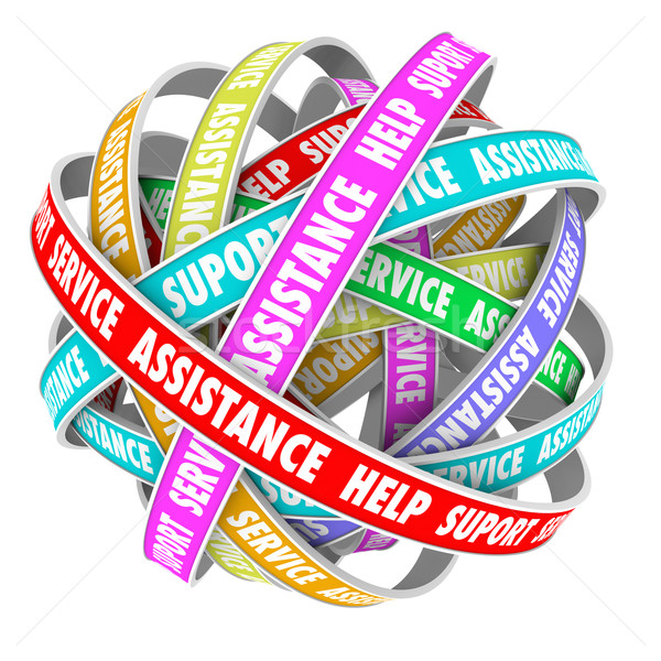 Support Assistance Help Support Endless Cycle Always Available Stock photo © iqoncept