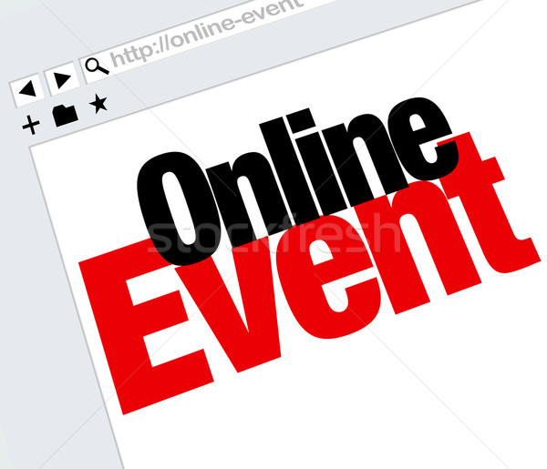 On-line eveniment website cuvinte Internet digital Imagine de stoc © iqoncept