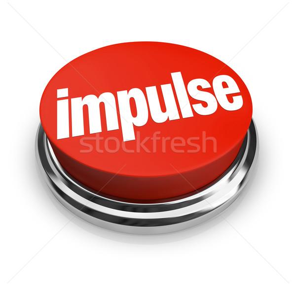 Impuls woord 3D Rood knop Stockfoto © iqoncept