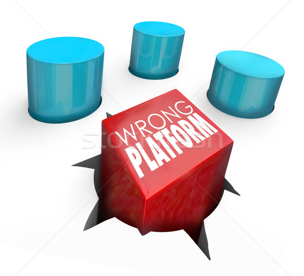 Wrong Platform Words Square Peg Wrong Home Stock photo © iqoncept