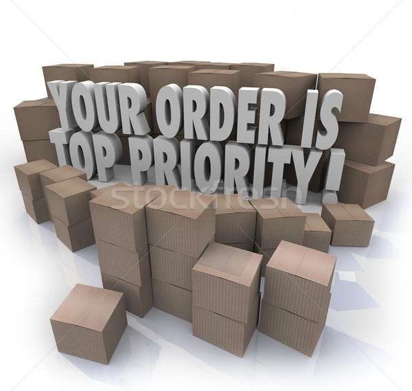 Your Order is Top Priority Packages Boxes Warehouse Important De Stock photo © iqoncept