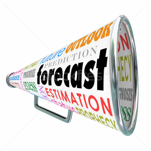 Forecast Bullhorn or Megaphone for Prediction Estimate Projectio Stock photo © iqoncept