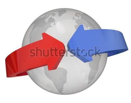 Około świecie międzynarodowych kontakty planety Ziemi Zdjęcia stock © iqoncept