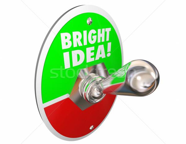Heldere idee origineel dacht creativiteit woorden Stockfoto © iqoncept