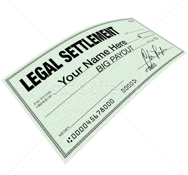 Legal Settlement - Blank Check Disbersement Stock photo © iqoncept