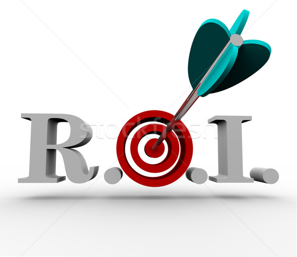 Return on Investment - Arrow and Target Stock photo © iqoncept