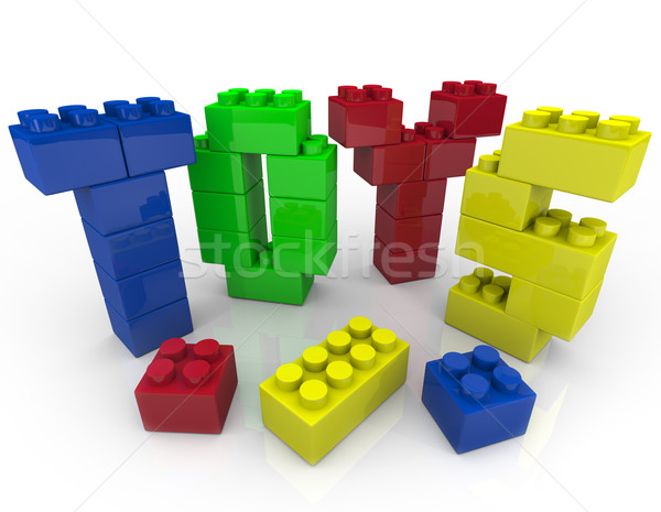 Toys - Building Blocks for Creative Playing Stock photo © iqoncept