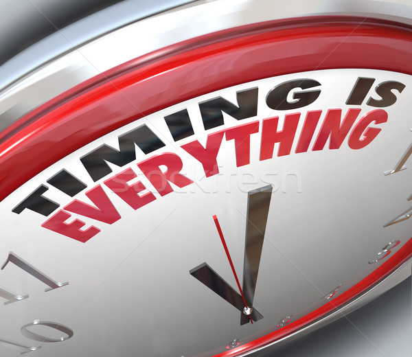 Timing is Everything Words on Clock Punctual Speed Stock photo © iqoncept