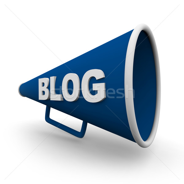 Blog Bullhorn - Isolated Stock photo © iqoncept