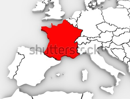 France résumé 3D carte Europe continent Photo stock © iqoncept