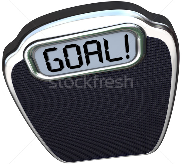 Goal Word Scale Weight Loss Target Lightweight Stock photo © iqoncept