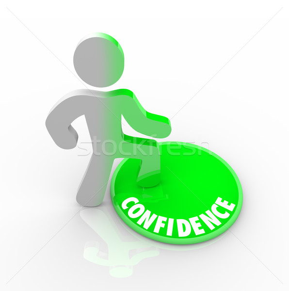 Stepping Onto the Confidence Button Stock photo © iqoncept