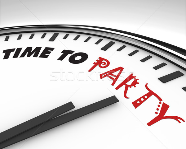 Сток-фото: время · вечеринка · часы · белый · слов · праздник