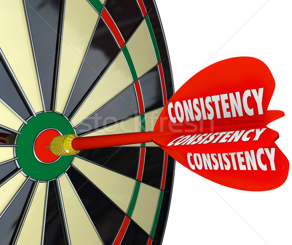 Consistency Dependable Reliable Perfect Score Dart Board Stock photo © iqoncept