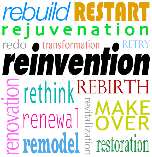 Reinvention Word Background Rebuild Redo Restart Stock photo © iqoncept