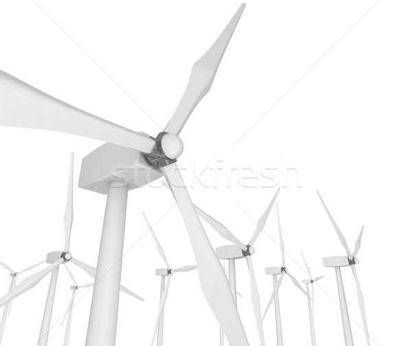 Vento potere bianco parecchi clean Foto d'archivio © iqoncept