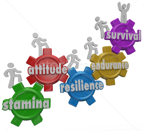 Survival Endurance Attitude Stamina Resilience People Enduring D Stock photo © iqoncept