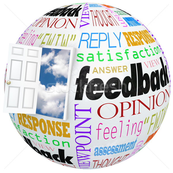 Feedback Globe Open Door Opinions Reviews Ratings Comments Stock photo © iqoncept