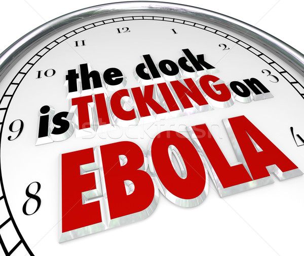Clock Ticking on Ebola Time Stop Deadly Disease Virus Stock photo © iqoncept