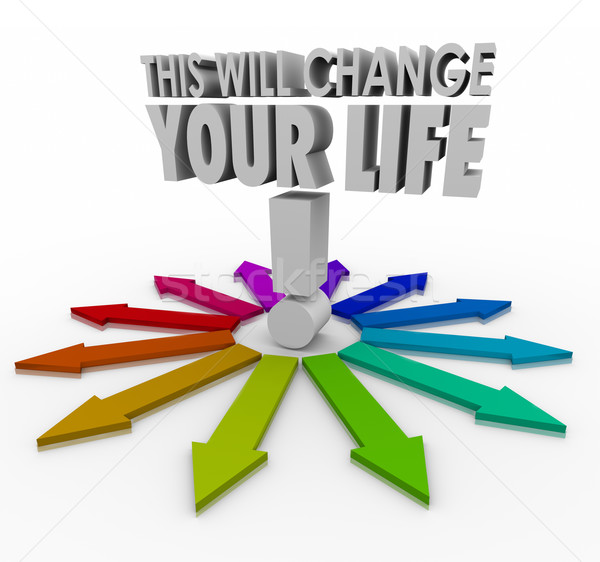 This Will Change Your Life 3d Words Arrows Important Decision Ch Stock photo © iqoncept