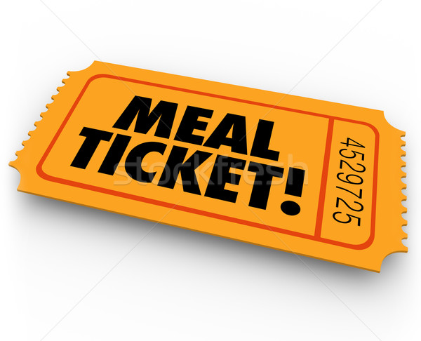 Meal Ticket Free Paying Service Support Winning Restauraunt Eati Stock photo © iqoncept