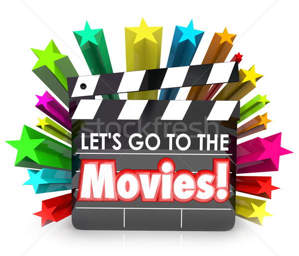 Let's Go to the Movies Film Clapper Board Watch Fun Entertainmen Stock photo © iqoncept