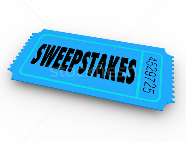 Sweepstakes Lucky Winning Ticket Enter Prize Contest Win Big Pri Stock photo © iqoncept