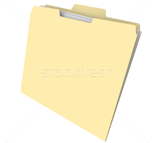 Blank Manila Folder Documents File Archive History Stock photo © iqoncept