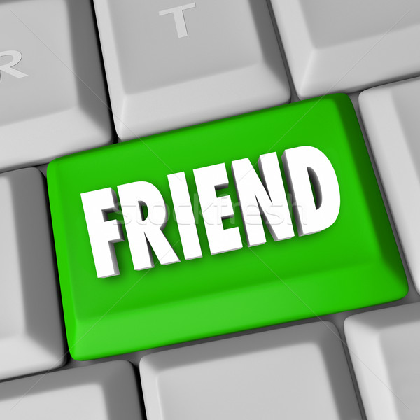 Friend Word Friendship Keyboard Online Website Find Companion Co Stock photo © iqoncept