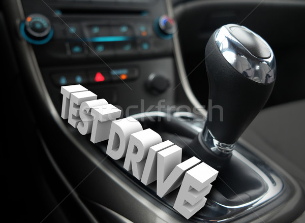 Test Drive 3d Words Car Vehicle Automotive Evaluation Review Stock photo © iqoncept