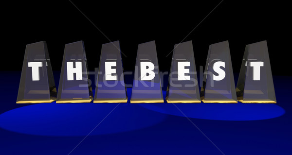 The Best Top Honors Awards Recognition Appreciation 3d Illustrat Stock photo © iqoncept