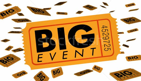 Big Event Ticket Special Admission Celebration 3d Illustration Stock photo © iqoncept
