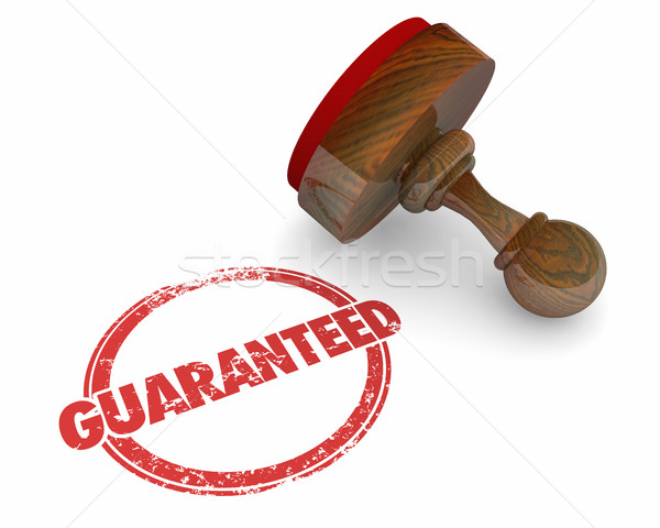 Guaranteed Stamp Promise Trust Word 3d Illustration Stock photo © iqoncept