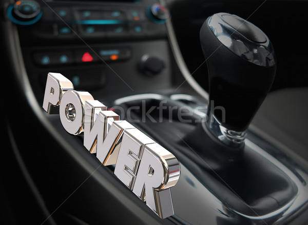 Power Automotive Cockpit Interior Horsepower Energy 3d Illustrat Stock photo © iqoncept