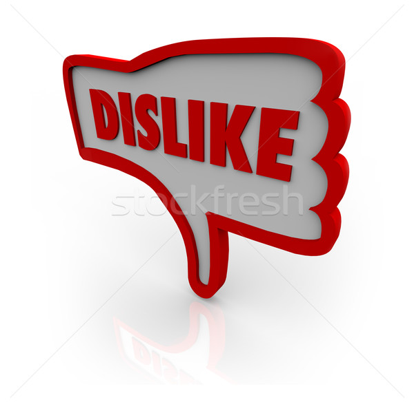 Dislike Thumb Down Hand Icon Shows Displeasure Stock photo © iqoncept