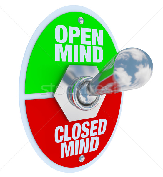 Open vs Closed Mind - Toggle Switch Stock photo © iqoncept
