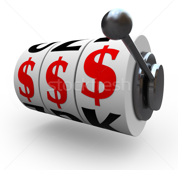 Dollar Signs on Slot Machine Wheels - Gambling Stock photo © iqoncept